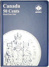 CANADIAN 50-CENT UNI-SAFE BLUE COIN FOLDER PROTECTOR - 4 PAGES BLANK