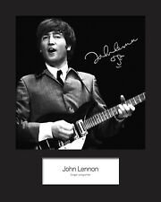 JOHN LENNON #2 Signed Photo Print 10x8 Mounted Photo Print - FREE DELIVERY