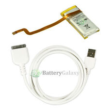 BATTERY+Rapid USB Data Sync Cable for Apple iPod Video 5th Gen 30gb 616-0223 5G