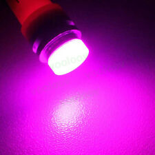 Ceramic LED T10 Parking Light Number Plate Bulb for Car Bike- PINK- 2PC