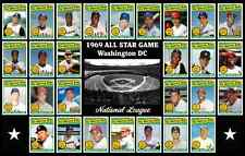 1969 MLB All Star Game Poster National League Unique Decor Xmas Gift Wall Art