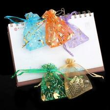 50 Organza Candy Pendant Jewelry Gift Pouch Bags Wedding XMAS Party Favors 9.5X7