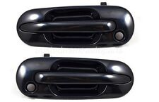 fits Honda CRV Outside Exterior Door Handle Front Left Right Black Smooth Set