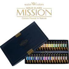 Mijello Mission Gold Class 15ml 34 Colors Watercolor Paints / Express Shipping