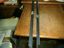 NOS 1969 FORD MUSTANG COUPE & CONVERTIBLE VERTICAL DOOR GLASS WEATHERSTRIPS PAIR