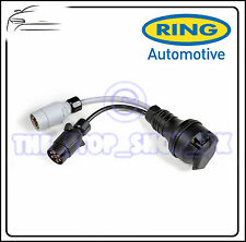 Ring Plug Adapter 12N + 12S 7 pin sockets to 13 pin plug towing trailer A0039