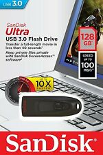 SanDisk CZ48 128GB USB 3.0 Flash Memory Drive (SDCZ48-128G) 100MB/P NEW Retial