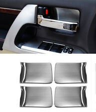 Chrome Interior door bowl Decorative trim For Toyota Land Cruiser LC200 08-16