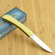 Rough Rider Smooth Yellow Synthetic Handle Work Knife RR818