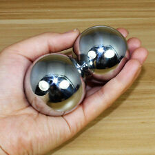 38mm Sliver Chinese Health Exercise Stress Relaxation Therapy Baoding Balls New