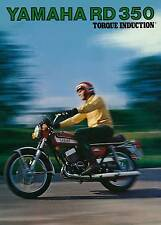 YAMAHA Brochure RD350 1973 Action Shot Sales Catalog Catalogue REPRO