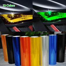 12 Color Car Headlight Fog Light Taillight Film Wrap Sticker 40*12in