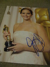 JENNIFER LAWRENCE SIGNED AUTOGRAPH 11X14 OSCAR TROPHY HUNGER GAMES IN PERSON D