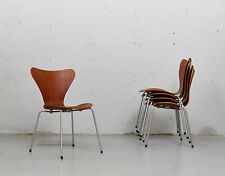 Arne Jacobsen Teak Sidechair 3107 für Fritz Hansen, 1963! Set of four