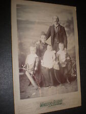 old cabinet photograph family cricket bat hoop by Windsor at Glasgow c1890s