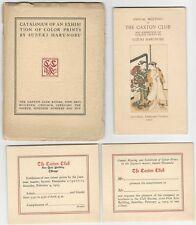 1905 Harunobu Color Print Exhibit Catalog plus 3 Pieces of Exhibition Ephemera