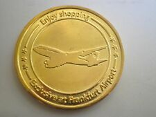 FRANKFURT AIRPORT Germany coin token chip,duty free airplane FLUGHAFEN HFINNEMAN