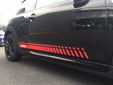 MINI JCW CHILI RED CUSTOM SIDE STRIPES WITH LOGO