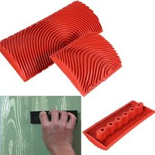 2 Pcs Wood Graining Rubber Painting Effects Tool Texture Pattern DIY Home Decor