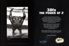 3Dfx: The Power of 2 - VOODOO 2__Original 1998 Print AD / Graphics promo advert