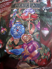 Bucilla Holiday Needlepoint Stocking Kit,ORNAMENTS OF CHRISTMAS,60742,Rossi,18""