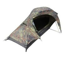One Man 1 Berth FLECKTARN CAMO Military Army TENT - Camouflage Camping Shelter
