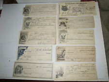(48) EARLY 1900S BANK CHECKS - USED - NICE GRAPHICS - TUB MM