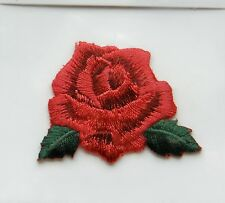 Red ROSE FERRO su Applique Motif Patch, NUOVO DI ZECCA