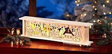 Schwibbogen Lichterbogen Fensterdeko Holz LED beleuchtet Weihnachtsbeleuchtung