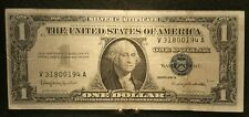 Series 1957 B One 1 Dollar Silver Certificate. Blue Seal V 31800194 A