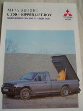Mitsubishi L200 Tail Lift brochure Apr 1997 German text