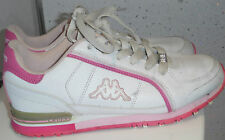 WOMENS GIRLS KAPPA ITALIA 1967 TRAINERS SIZE UK 5 EUR 38 WHITE PINK LACE UP VGC