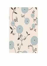 Graham & Brown Contour Mae Duck Egg Blue Floral Kitchen Bathroom Wallpaper 19754