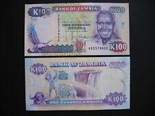 ZAMBIA  100 Kwacha 1991  (P34a)  UNC