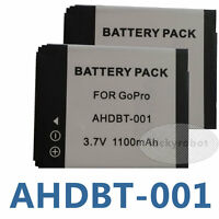 2-Pack of AHDBT-001, AHDBT-002 Battery for GoPro HD HERO, HERO2 Camera