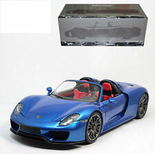 MINICHAMPS 2013 Porsche 918 Spyder Blue/Red Interior 1:18*New!