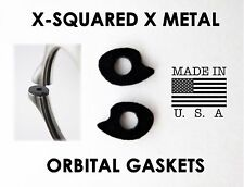 Oakley X-Squared Orbital Gaskets X Metal New Black Rubber Lens Shocks Replace