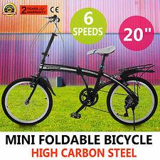 Microbike Bici Bicicletta Pieghevole 20 Pollici Città Foldable 6 Velocità