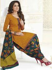 Elegant Yellow Cotton Designer Printed Dress Material Salwar Suit .No S2136