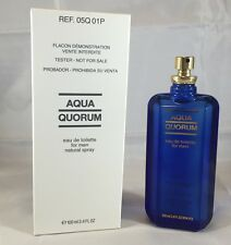 Aqua Quorum By Antonio Puig 3.4 oz EDT Spray Brand New Tester Cologne For Men