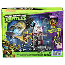 TEENAGE MUTANT NINJA TURTLES MEGA BLOKS MIKEY PIZZERIA SHOWDOWN PLAY SET TOY