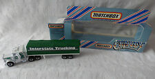 "Matchbox Convoy  CY5 Peterbilt Covered Truck ""Interstate Trucking""  - OVP / Box"