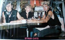 RARE THE STRAY CATS 1981 VINTAGE ORIGINAL MUSIC POSTER