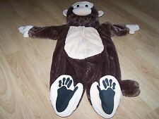 Infant Size 9 Months Authentic Kids Plush Brown Monkey Chimp Halloween Costume