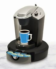 Coffee Pod Carousel Stores Flavors Containers Rotates Spins Holds 24 Base Maker