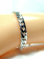 Bracelet Silver Plated Link Chain 8 inch Womens Mens 5MM Deluxe New