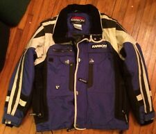Mens Vintage Karbon Nylon Ski Snowmobile Winter Snow Rain Jacket Coat L BLue