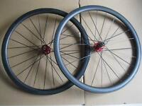 Carbon cyclocross wheelset 38mm clincher carbon wheelset with novatec disc hub