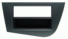 Mascherina con foro ISO/Doppio Iso/Doppio DIN colore grigio Seat Leon 05 12
