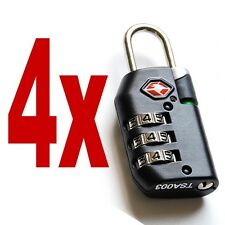 4 Pack Travel Luggage Security Safe Indicator Combination Lock TSA Approved